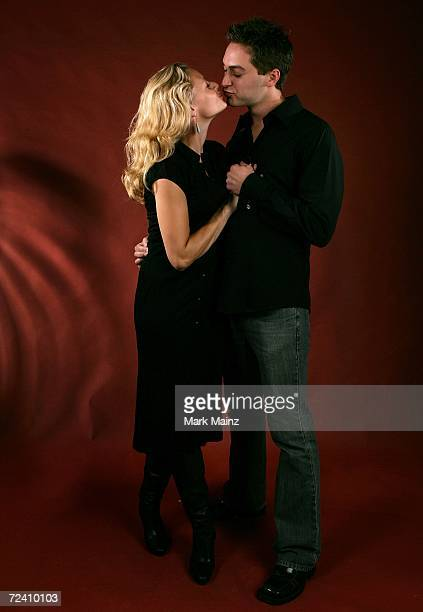 Actor James Brandon and actress Jessica Cauffiel of the film Broken poses in the portrait studio at the AFI FEST 2006 presented by Audi at the...