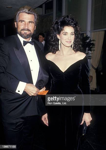 Actor James Brolin and actress Connie Sellecca attend the 44th Annual Golden Globe Awards on January 31 1987 at the Beverly Hilton Hotel in Beverly...