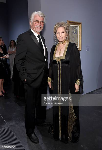 Actor James Brolin and actresssinger Barbra Streisand attend LACMA's 50th Anniversary Gala sponsored by Christie's at LACMA on April 18 2015 in Los...