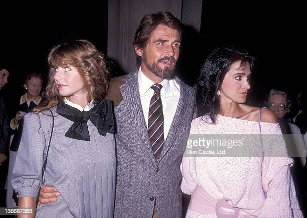 Actor James Brolin and girlfriend Jan Smithers and actress Connie Sellecca attend the Opening Night Performance of the Musical Nine on May 24 1984 at...