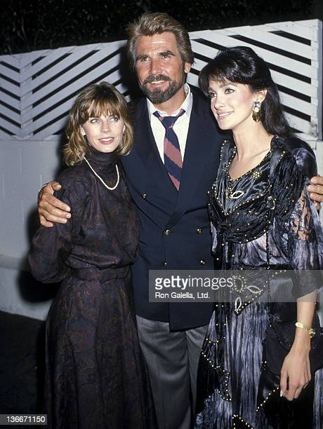 Actor James Brolin and wife Jan Smithers and actress Connie Sellecca on October 8 1986 dine at Spago in West Hollywood California