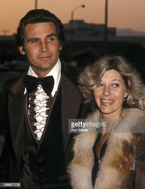 Actor James Brolin and wife Jane Cameron Agee attend the Second Annual People's Choice Awards on February 19 1976 at the Santa Monica Civic...