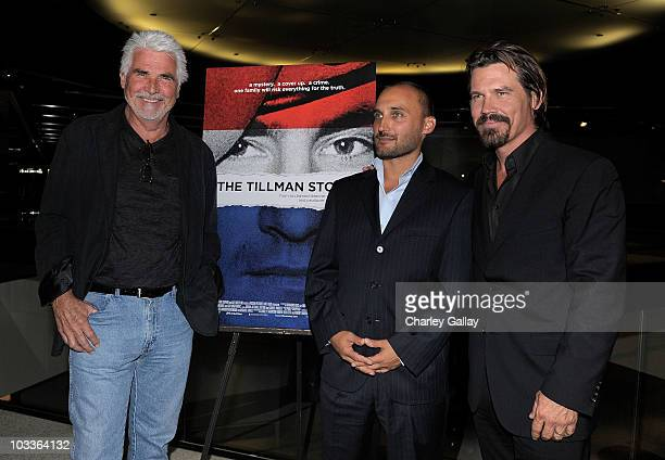 Actor James Brolin, director Amir Bar-Lev and actor Josh Brolin attend a special screening of The Weinstein Company's 'The Tillman Story' at the...