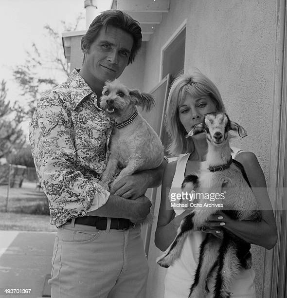 Actor James Brolin poses with wife Jane Cameron Agee at home in Los Angeles California