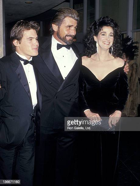 Actor James Brolin son actor Josh Brolin and actress Connie Sellecca attend the 44th Annual Golden Globe Awards on January 31 1987 at the Beverly...