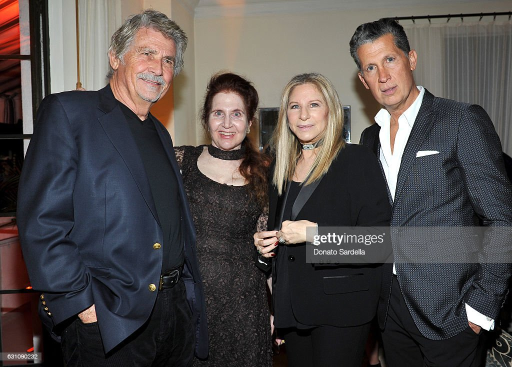 Actor James Brolin, W Magazine's Lynn Hirschberg, Barbra Streisand and Editor of W magazine Stefano Tonchi attend W Magazine Celebrates the Best Performances Portfolio and the Golden Globes with Audi and Moet & Chandon at Chateau Marmont on January 5, 2017 in Los Angeles, California.