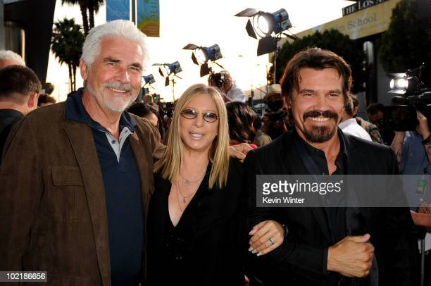 Actor James Brolin wife singer Barbra Streisand and actor Josh Brolin arrive at premiere of Warner Bros Jonah Hex held at ArcLight Cinema's Cinerama...