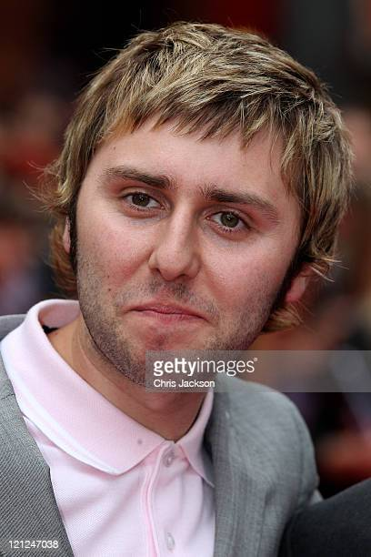 Actor James Buckley attends the world film premiere of The Inbetweeners Movie at Vue West End on August 16, 2011 in London, England.