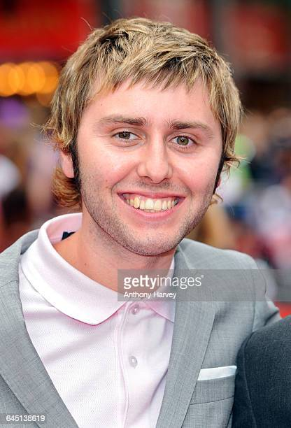 Actor James Buckley attends the world film premiere of The Inbetweeners Movie at Vue West End on August 16 2011 in London