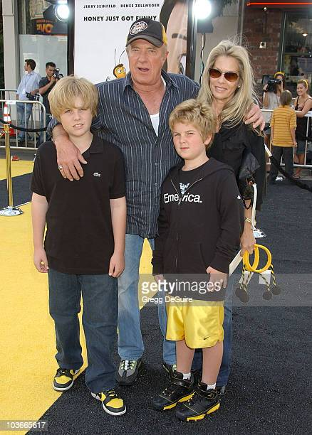 Actor James Caan and family arrive at the Los Angeles Bee Movie premiere at the Mann Village Theatre on October 28 2007 in Westwood California