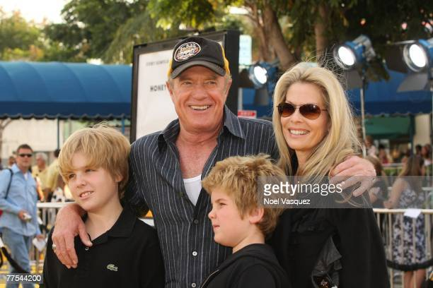 Actor James Caan and family attend the premiere of DreamWorks Animation's Bee Movie at the Mann's Bruin Theatre on October 28 2007 in Los Angeles...