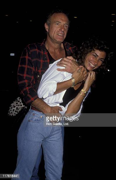 Actor James Caan and Ingrid Hajek attend the birthday party for Greg Gorman on June 29 1989 at Tramp's in Beverly Hills California