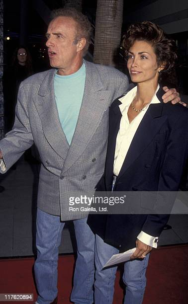 Actor James Caan and Ingrid Hajek attend the screening of So I Married An Axe Murderer on July 28 1993 at the Galaxy Theater in Hollywood California