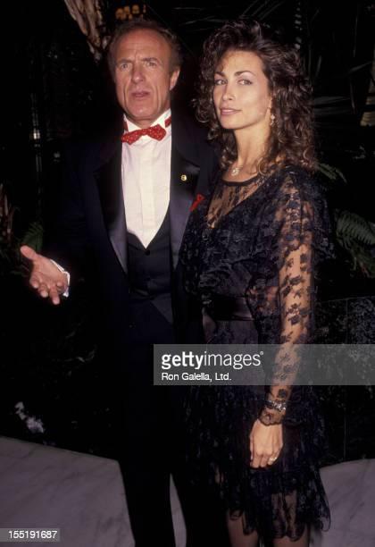 Actor James Caan and Ingrid Hajek attend Variety Benefit Gala Honoring Joe Roth on June 27 1991 at the Century Plaza Hotel in Century City California