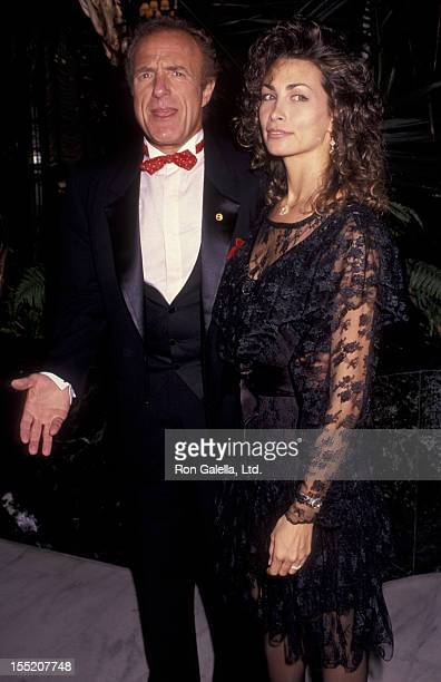 Actor James Caan and Ingrid Hajek attend Variety Benefit Gala Honoring Joe Roth on June 27 1991 at the Century Plaza Hotel in Century City California