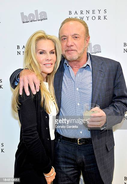 Actor James Caan and Linda Caan attend a cocktail event in support of HOLA Heart of Los Angeles hosted by Barneys New York Simon Doonan and The HOLA...