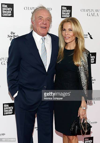 Actor James Caan and Linda Stokes attend the 41st Annual Chaplin Award Gala at Avery Fisher Hall at Lincoln Center for the Performing Arts on April...