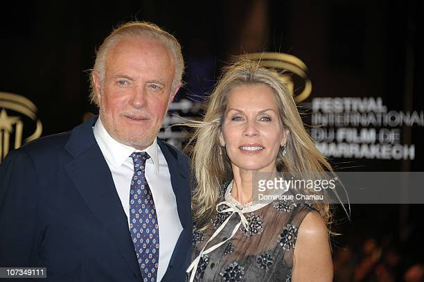 Actor James Caan and Linda Stokes attend the tribute to James Caan during the 10th Marrakech Film Festival on December 5 2010 in Marrakech Morocco