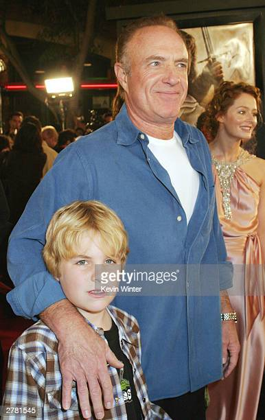 Actor James Caan and son Jacob attend the premiere of The Lord of the Rings The Return of the King at the Mann Village Theatre December 3 2003 in Los...