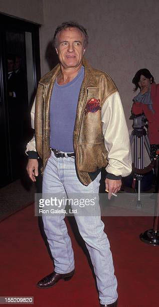 Actor James Caan attends the screening of Mombo Kings on February 26 1992 at Mann Bruin Theater in Westwood California