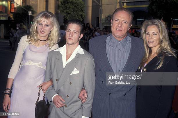 Actor James Caan Linda Stokes and Scott Caan attend the premiere of Eraser on June 11 1996 at Mann Chinese Theater in Hollywood California