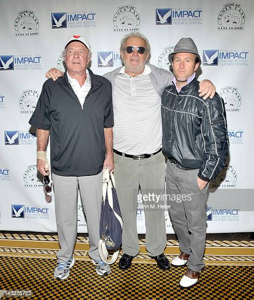 Actor James Caan Ronnie Caan and actor Scott Caan arrive at the 9th Annual James Caan Golf Classic at the El Caballero Golf Club on April 23 2012 in...