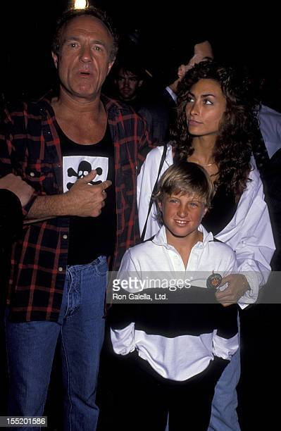 Actor James Caan Scott Caan and Ingrid Hajek attend the birthday party for Greg Gorman on June 29 1989 at Tramp's in Beverly Hills California