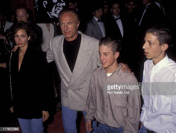 Actor James Caan Scott Caan and Ingrid Hajek attend the premiere of Batman Returns on June 16 1992 at Mann Chinese Theater in Hollywood California