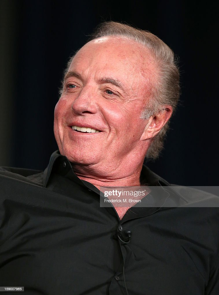 Actor James Caan speaks onstage at the 'Magic City' panel discussion during the Starz portion of the 2013 Winter TCA Tour- Day 2 at Langham Hotel on January 5, 2013 in Pasadena, California.