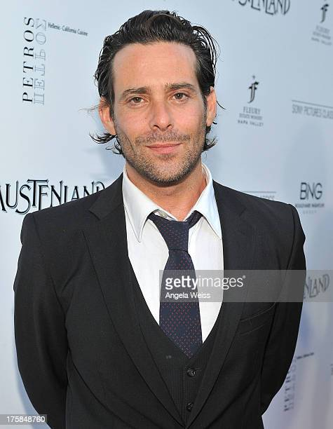 Actor James Callis arrives at the premiere of 'Austenland' at ArcLight Hollywood on August 8 2013 in Hollywood California