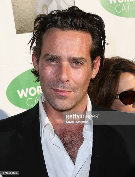 Actor James Callis attends CATberet a musical review for the Kitty Bungalow Charm School for Wayward Cats at the Belasco Theatre on August 4 2013 in...