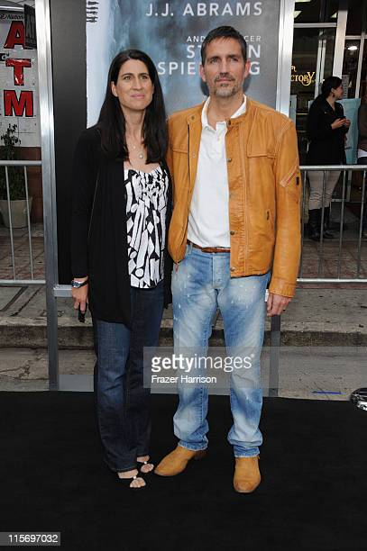 """Actor James Caviezel and wife Kerri Browitt arrive at the premiere of Paramount Pictures' """"Super 8"""" at Regency Village Theatre on June 8, 2011 in..."""