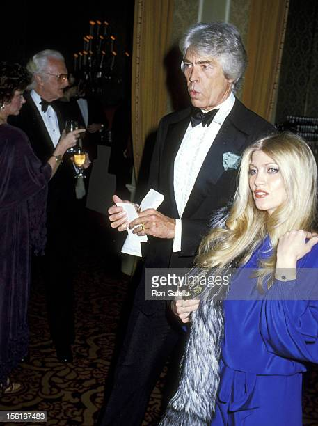 Actor James Coburn and Musician Lynsey de Paul attend the 31st Annual Directors Guild of America Awards on March 10 1979 at Beverly Hilton Hotel in...