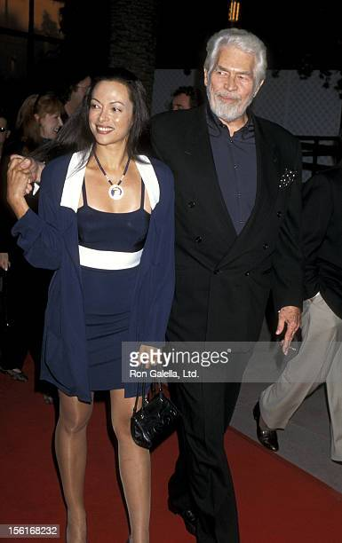 Actor James Coburn and Paula Coburn attend the Benefit Premiere of 'The Nutty Professor' on June 27 1996 at Universal Amphitheater in Universal City...