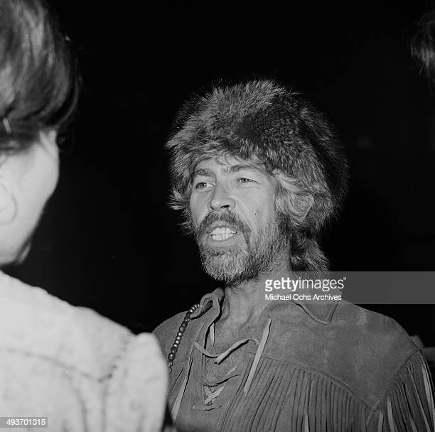 Actor James Coburn attends a premiere in Los Angeles California