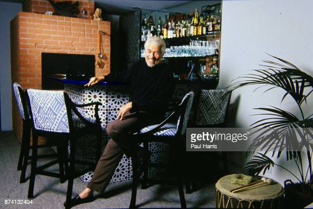 Actor James Coburn in his Bel Air home in these pictures at age 52 one year after he divorced his first wife Beverly Kelly he lives alone July 5 1980...