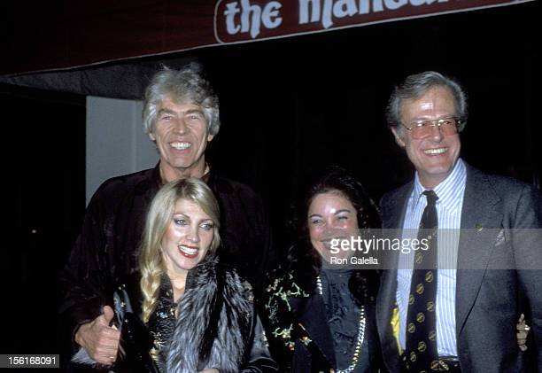 Actor James Coburn Musician Lynsey de Paul Songwriter Carol Connors and Actor Robert Culp attend the Chinese New Year's Party on February 6 1979 at...