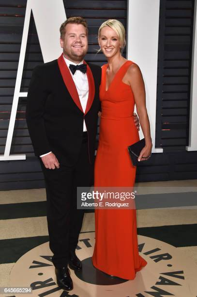 Actor James Corden and producer Julia Carey attend the 2017 Vanity Fair Oscar Party hosted by Graydon Carter at Wallis Annenberg Center for the...