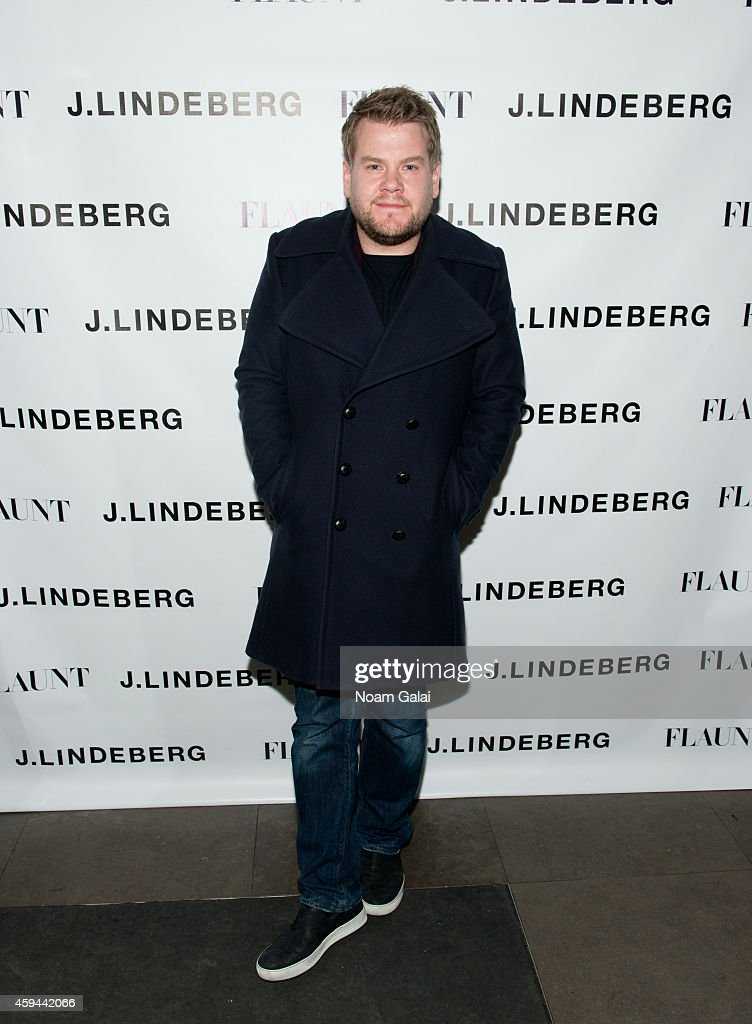 Actor James Corden attends the Celebration of Chris Pine's cover of Flaunt Magazine at Beautique on November 22, 2014 in New York City.