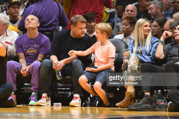Actor James Corden attends the game between the Los Angeles Lakers and the Utah Jazz on October 25 2019 at STAPLES Center in Los Angeles California...