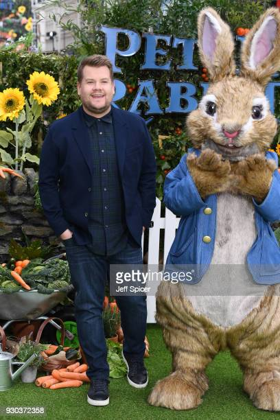 Actor James Corden attends the UK Gala Premiere of 'Peter Rabbit' at the Vue West End on March 11 2018 in London England