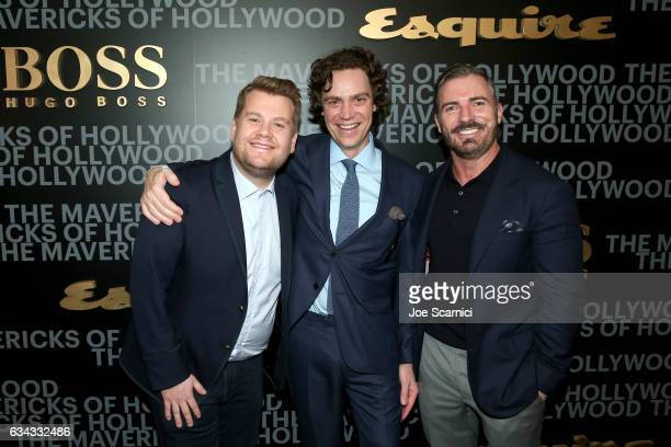 Actor James Corden editorinchief of Esquire Jay Fielden and publisher of Esquire Jack Essig attend Esquire's celebration of March cover star James...