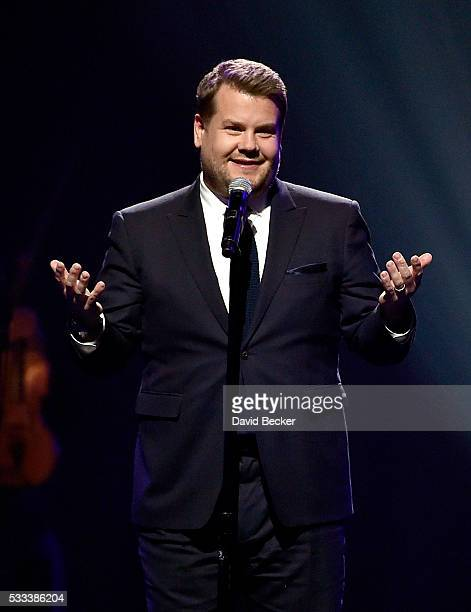 Actor James Corden performs onstage at Keep Memory Alive's 20th annual 'Power of Love Gala' at the MGM Grand Garden Arena on May 21 2016 in Las Vegas...