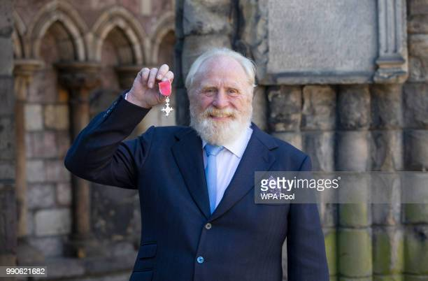 Actor James Cosmo after receiving his MBE for services to drama from Queen Elizabeth II during an Investiture ceremony at the Palace of Holyroodhouse...