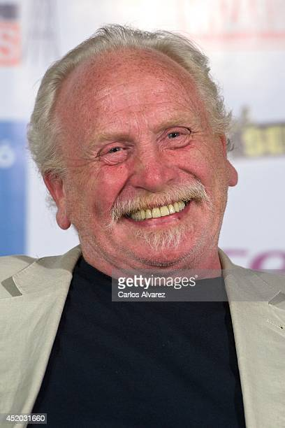 """Actor James Cosmo attends Game of Thrones press conference during the """"Wizard Con"""" Entertainment World Convention 2014 at the Barcelo Castellana..."""