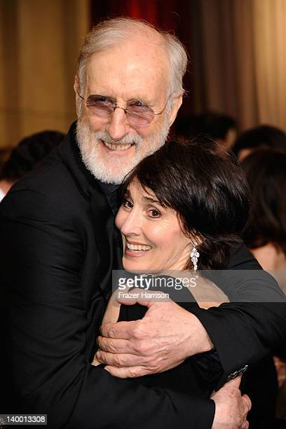 Actor James Cromwell and Anna Stuart arrive at the 84th Annual Academy Awards held at the Hollywood Highland Center on February 26 2012 in Hollywood...