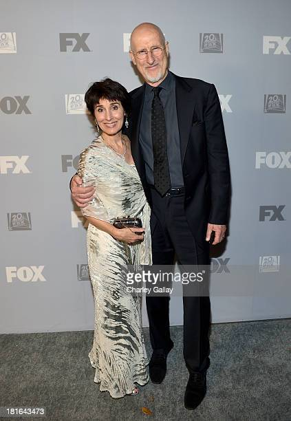 Actor James Cromwell and Anne Ulvestad attend the Fox Broadcasting Company Twentieth Century Fox Television and FX celebration of their 2013 EMMY...