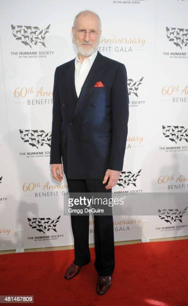Actor James Cromwell arrives at The Humane Society Of The United States 60th anniversary benefit gala at The Beverly Hilton Hotel on March 29 2014 in...