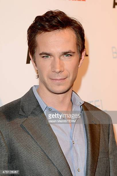 """Actor James D'Arcy attends A&E's """"Bates Motel"""" and """"Those Who Kill"""" Premiere Party at Warwick on February 26, 2014 in Hollywood, California."""