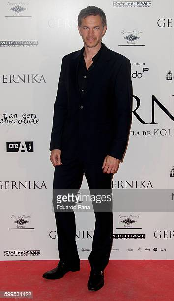 Actor James D'arcy attends the 'Gernika' premiere at Palafox cinema on September 5 2016 in Madrid Spain